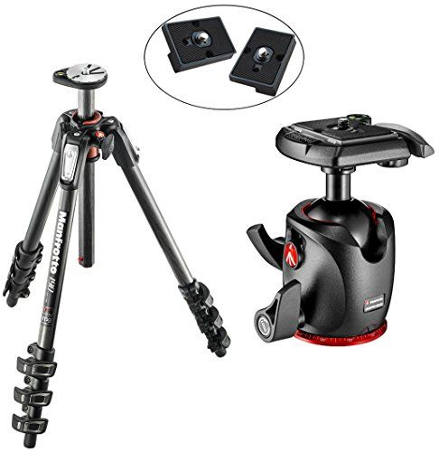 Manfrotto MT190CXPRO4 (Carbon) und Manfrotto MHXPRO-BHQ2